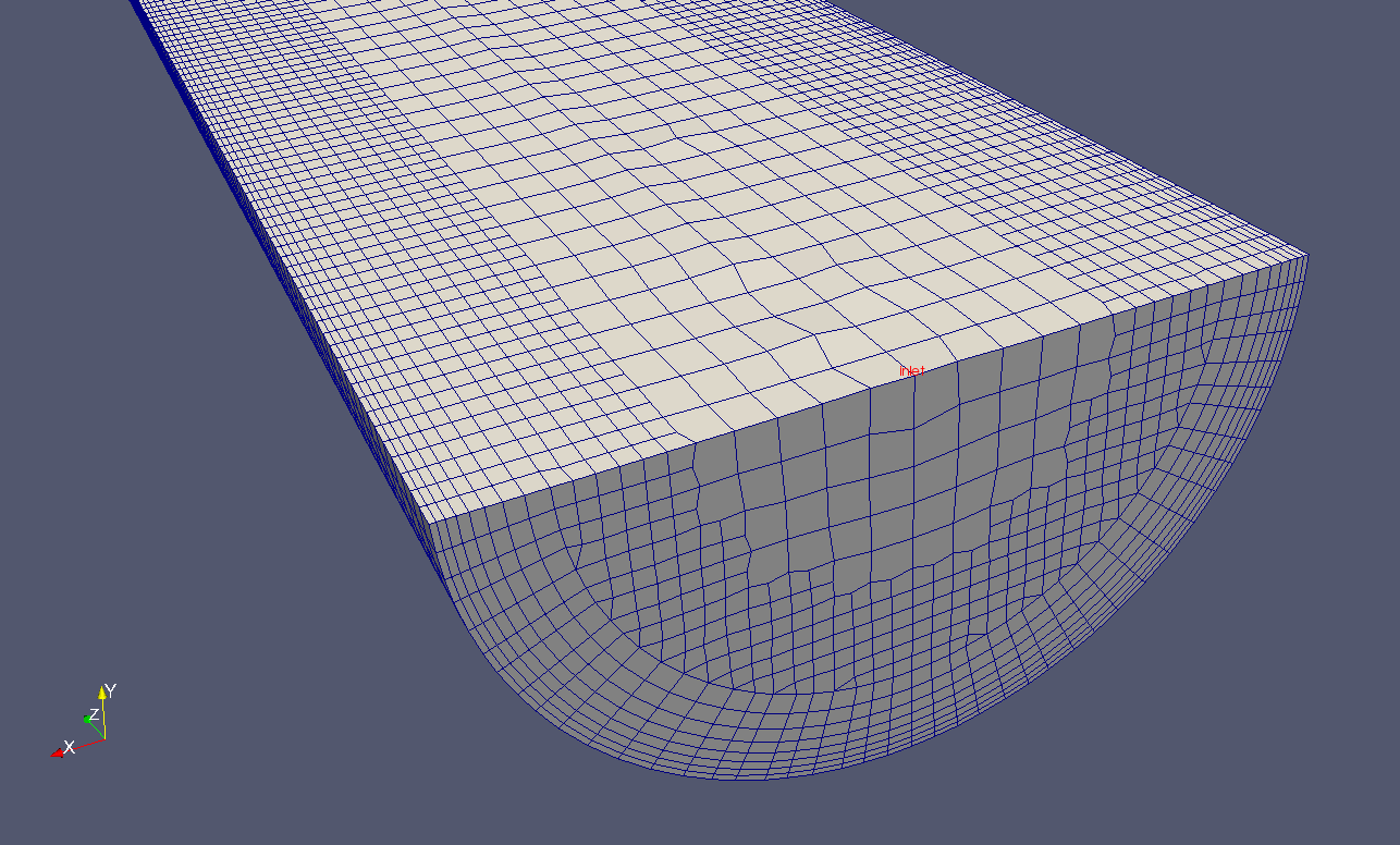 Image: Cut through the centerplane of the mesh