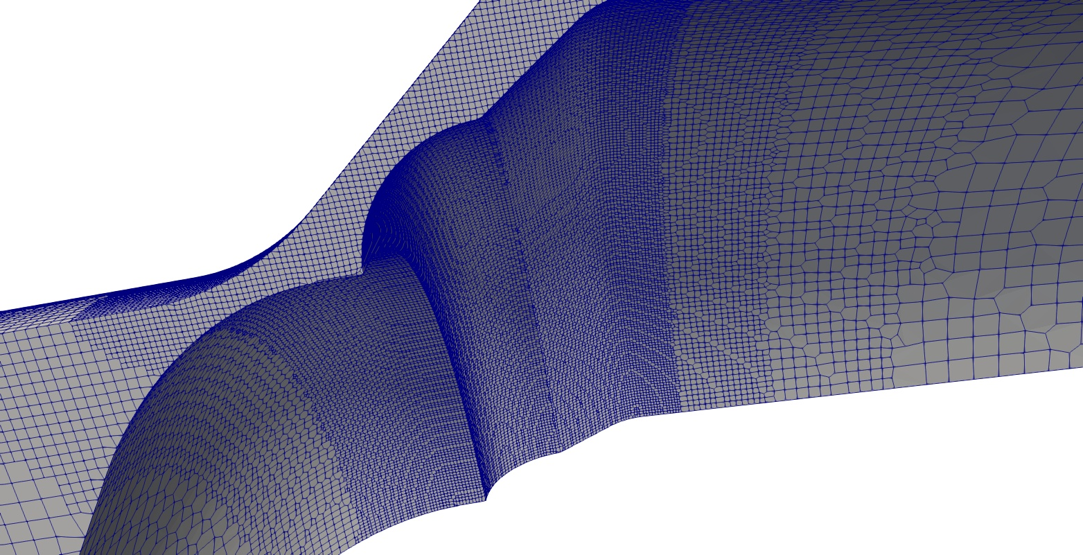 Image: Detailled mesh view around the gap